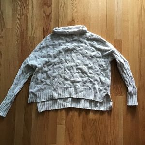 Cream Turtleneck Cable Knit Sweater from aerie